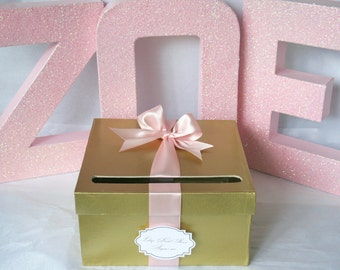 Pink & Gold Card Box