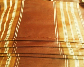 5-yards Sateen brown/gold fabric suitable for soft furnishing curtaining or for crafts