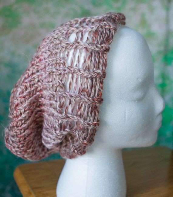 Knit Slouchy Hat - Copper Rose, Lavender Cream, or Teal