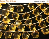 sale AAA yellow citrine quartz star gemstone briolette- faceted golden citrine quartz tar briolette-fancy shape beads-1 pair/2 PCs- 11 mm  N