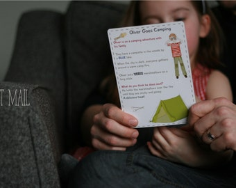 Kids Subscription - Non Toy Gift -  Mail Story Card Subscription for Kids (Canada)- Unique Birthday Party Gift