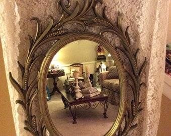 Syrocco mirror/ ornate wall mirror/ bath mirror/ nursery mirror/ vintage mirror/ wall mirror