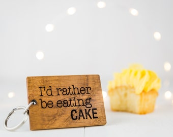 Personalised Rather Be Keyring - Birthday Gift For Him - Birthday Gift For Him - Personalised Keyring - Wooden Keyring - New Job Gift