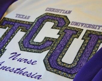 TCU Texas Christian University Women's Jersey/Football/Spirit/Basketball Fan Shirt/Bling/Monogrammed
