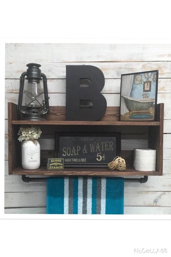 bathroom shelf unit bathroom towel shelf by countrycornergoods. Black Bedroom Furniture Sets. Home Design Ideas