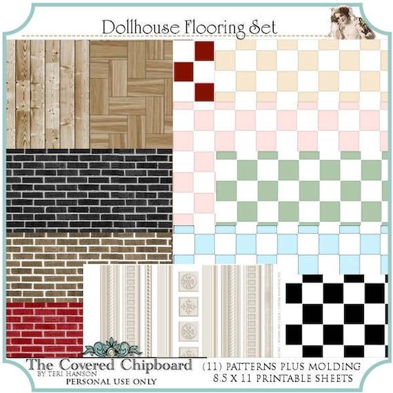 Dollhouse Printable Flooring Set 01