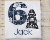 Professionally Embroidered Star Wars Birthday Shirt with or without name Message for Custom Order #VermontCustomWorks