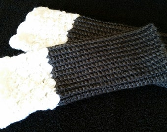 Hand-crocheted, Lace Boot Cuffs or Leg Warmers
