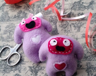 Ricky and Becky Dooberling handmade pocket critters
