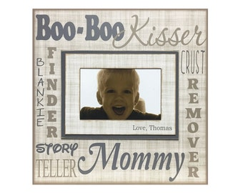 UNIQUE Mother's Day Gift for Mommy ~ Customized Photo Frame for Mom ~ Personalized Picture frame from Children ~ Boo-Boo Kisser...~