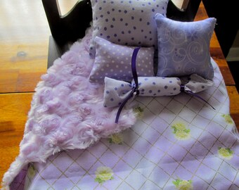 "Lavender Doll Bedding, 18"" Doll Bedding"