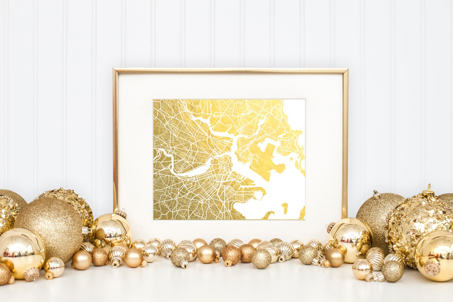 Boston Wall Art boston map gold foil print boston wall art gold foil map