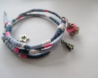 Wire Wrapped Boho Bracelet Wrapped, Gypsy Bracelet, Freeform Bracelet, Stack Bohemian Bracelet