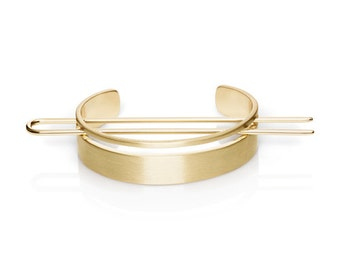 Shiny Gold Bun Cuff