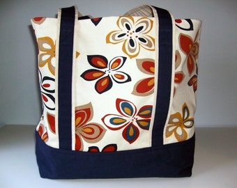 Pretty Floral Tote Bag