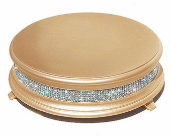 14 inch Gold Diamond Wedding Cake Stand