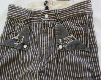 AUTHENTIC Vintage 1950's Era WYATT EARP Originals by Wings Child Pants Costume Dress Up Jeans Size 8