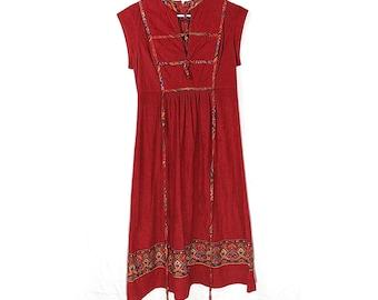 Western/Ranch Style Midi Dress