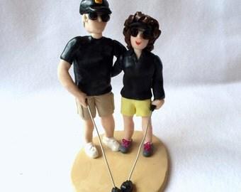 Custom Polymer Clay Couple Figurine, Custom Clay Cake Topper, Couple Sculpture.