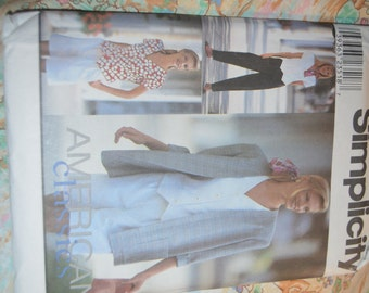 Simplicity 8964 MIsses Pants or Shorts Top and Unlined Jacket Sewing Pattern - UNCUT - Size 12 14 16