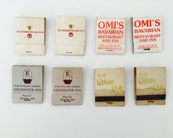 4 Restaurant Used Matchbooks