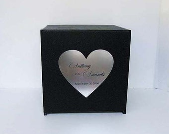 Personalized Wedding Card Box with lock Money Box unique