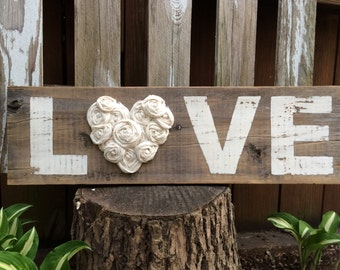 Shabby Chic/Rustic LOVE Sign
