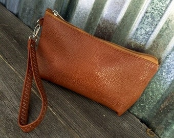 Wristlet/BROWN On the Go Wristlet -Neutrals/Bridesmaid Gifts/Bridal Party Gifts