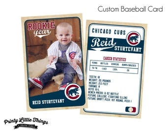 Printed Vintage Style Custom Baseball Cards