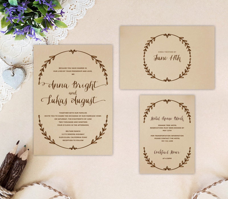 Cheap Invites For Wedding: Cheap Wedding Invitation Sets Printed: Invite RSVP Postcard