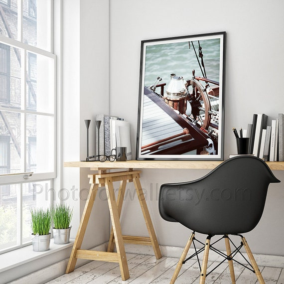 Bathroom decor, boat photography, office decor, nautical photography, home decor print 8x10 large wall art Vintage Shabby Chic Bathroom Art