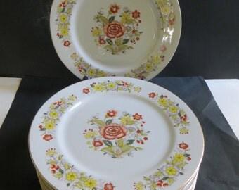Signature Collection Oriental Garden Dinner Plates Set of 8