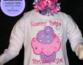 Yum Cupcake! Birthday Shirt or Onesie