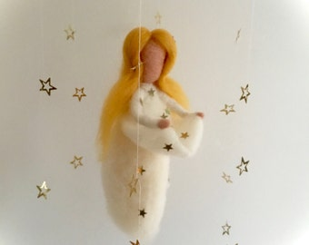 Mobile,The star money.fairy tale .Grimm.The star talers,Fairy tale,Story,Felted. Waldorf