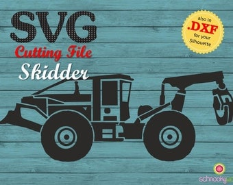 Skidder SVG, Grapple Skidder, Forestry, Forestry Machine, machinery, Lumberjack Tool, Forestry Technology, Tractor SVG, Tractor