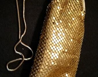 FREE U.S. SHIPPING--Unusual Gold Metal Bag