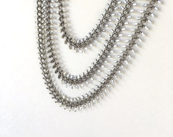 Sale Price!! Fishbone Chain, Antique Silver Plated Chain, 13mm, 2Ft