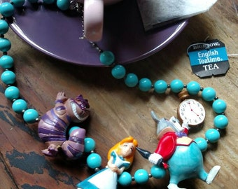 Alice in Wonderland beaded Necklace