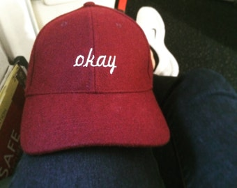 Okay Embroidered Cap