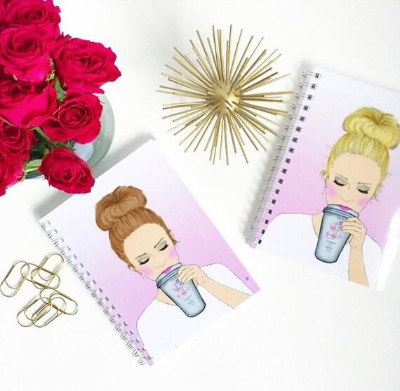 Girlboss notebook, Girl Boss notebook, Custom notebook, Boss notebook, Girly notebook, girlboss decor, girlboss desk accessories, stationary