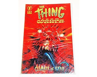 Vintage Comic Book, Dark Horse Comics, The Thing, From Another World, Climate of Fear, Retro Comic, 90s Comic Book, 2 of 4,  Graphic Novel