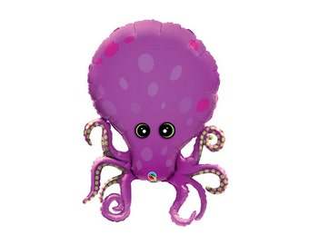 Octopus Foil Mylar Balloon - By and Under the See - 35 Inch - Hanging Decorations Party Supplies