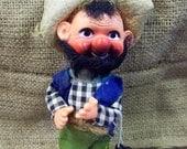 Hillbilly Figurine Plastic Hill Billy Plastic Doll