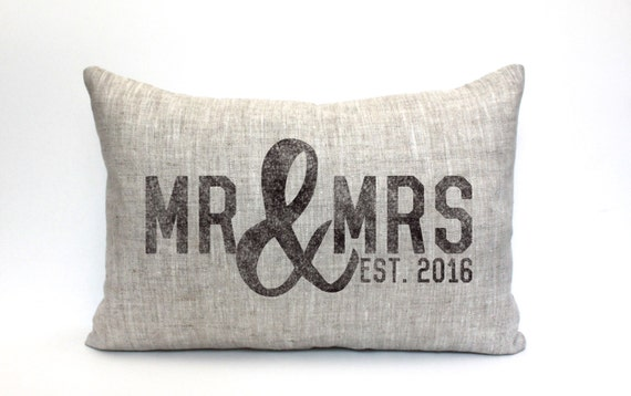 Mr And Mrs Gifts Wedding: Wedding Gift Mr And Mrs Pillow Wedding Shower Gift Bridal