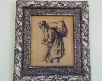 Genuine Artini Engraving Hand Painted Old Man