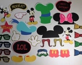 30 Pc Mickey Mouse Photo Booth Props