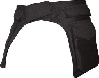 Double Black Hip Waist Bag Pocket Utility Belt