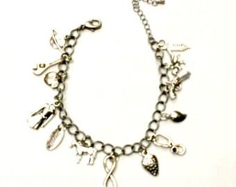 Firefly Charm Bracelet Serenity TV show inspired Handmade Gift