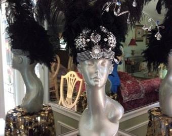 Black Custom made Bra Hat