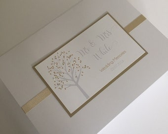 Wedding Anniversary Keepsake Box | Handmade Tree Couple's Memory Box